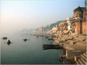 View of india's Holy city Varanasi.